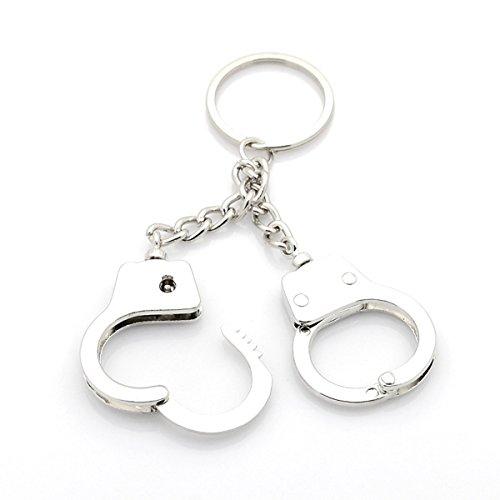 2 Handschellen Schlüsselring / Taschenanhänger
